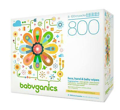 Babyganics Fragrance-Free Face Hand and Baby Wipes, 800 wipes, Packaging May