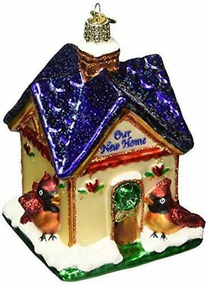 Our New Home Old World Christmas Glass Housewarming Cardinal Ornament Nwt 20052