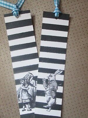 Alice in Wonderland bookmarks x 2