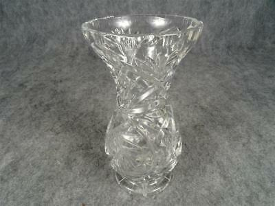 Leaded Crystal Vase Cut Glass Heavy 6 12 Tall Mouth 4 Handy