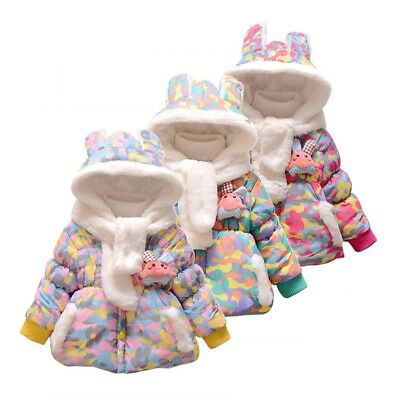 Lively Toddler Baby Girl Camouflage Print Doll Warm Jacket Hooded Windproof Coat