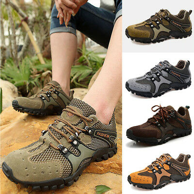 US Men's Running Sport Trail Trekking Sneakers Breathable Hiking Outdoor Shoes