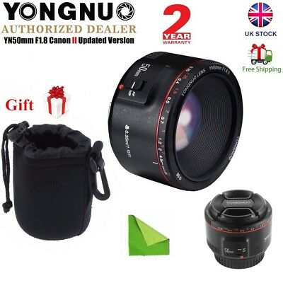 2018 Updated Version Yongnuo YN 50mm F1.8 II AF MF Prime Fixed Lens for Canon UK