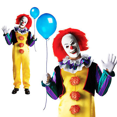Scary Clown Halloween Costume.Rubies Adult Deluxe Pennywise It Stephen King Mens Scary Clown Halloween Costume