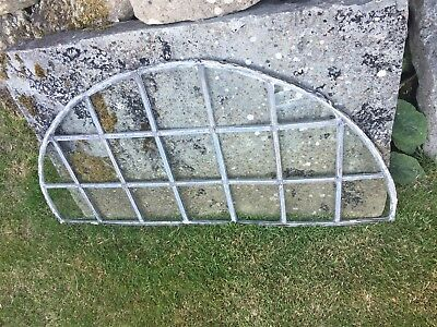 Reclaimed Arched Leaded Glass Window