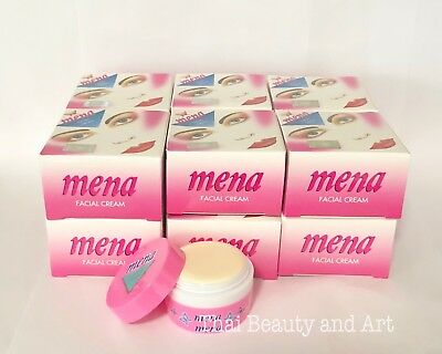 12 x MENA CREAM Skin Whitening Acne/ Dark Spot Blemish Lighten Facial 3g./0.1oz.