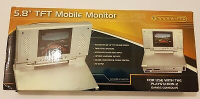 "PlayStation 2 TFT Mobile Monitor 5.8"" SILVER  Competition Pro para modelo FAT"
