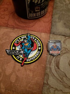 Funko Legion Of Collectors Superman Patch And Pin