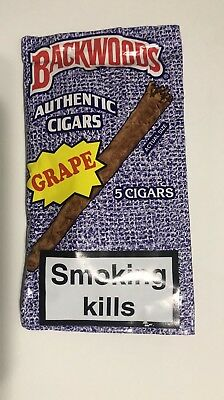 2 Packs Of 5 Backwoods Cigars Grape AUTHENTIC discontinued