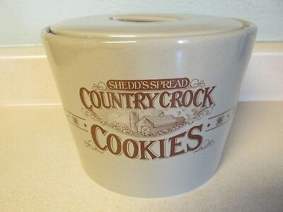 Shedd's Spread Country Crock Cookie Jar With Lid (Seal Around Edge)!