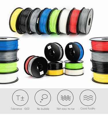 3D Drucker Filament Printer Rolle PLA/ABS 1,75mm 1kg Spule Trommel Patrone DE