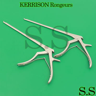 """3 Pcs Surgical KERRISON Rongeurs 3mm Up 45° Forward Angled Shaft 8"""" Instruments"""