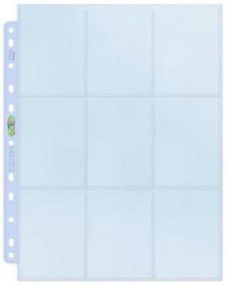 10 x Ultra Pro 9 Pocket Pages Clear Trading Card Silver Sleeves Pokemon MTG