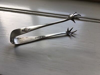 Antique Silver Ice Tongs