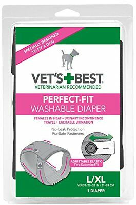Vet's Best Perfect Fit - Pañal Lavable para Perro (L / XL)