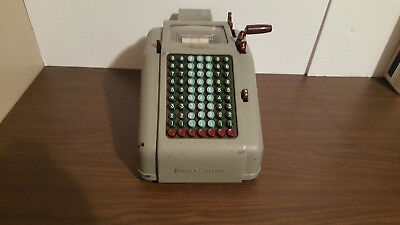Smith Corona adding machine vintage FOR PARTS AS IS  crank operated