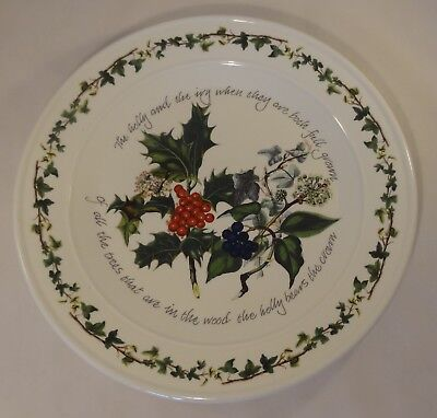 "Portmeirion The Holly & The Ivy Large 12 1/2"" Serving Plate Platter Or Charger"