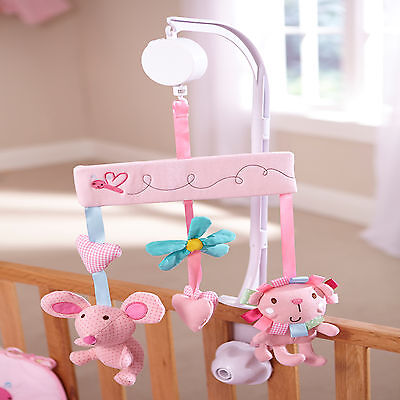 New Clair De Lune Lottie & Squeek Musical Mobile Wind Up Cot / Cot Bed Mobile