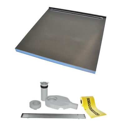 Tilefix wet room tray. DESIGN 1SP (single slope with narrow liner drain next to