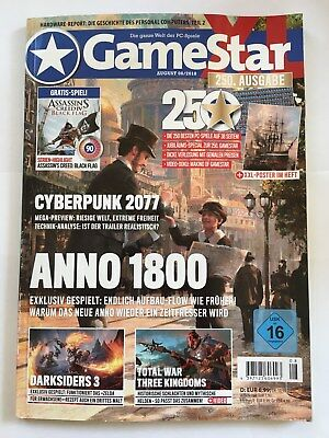 GAME STAR XL August 08/2018 *** XL-Version mit 2 DVDs  *** wie NEU !!!