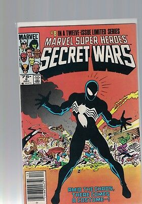 MARVEL COMIC  Marvel Super Heroes Secret Wars No 8 Dec 1984 1st black Suit Venom
