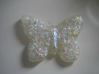 Dichoic/Art Glass Wonkey 2nd Fused Glass Frosted Butterfly