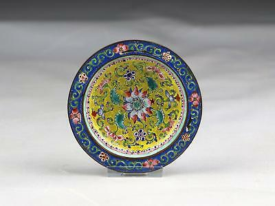 Small 18/19thC Antique Chinese Qing Famille Rose Canton Enamel Bowl Or Dish
