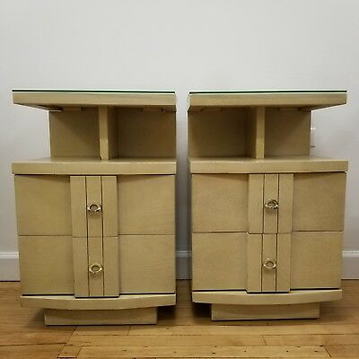 2 KENT COFFEY mid century ATOMIC modern THE TITAN Side tables nightstands