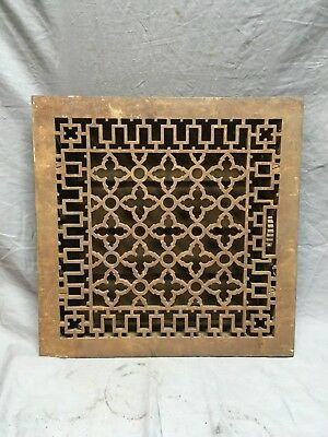 Antique Cast Iron Gothic Style Heat Grate Floor Register 16x16  Vtg Old   87-18C