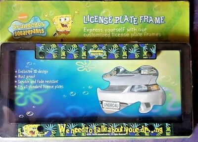 SPONGEBOB Squarepants We Need To Talk About Your Driving License Plate Frame NEW
