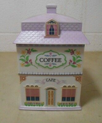 Vintage Lenox Village Porcelain Canister Coffee Cafe