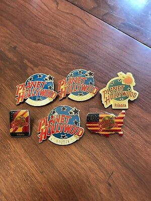 Large Lot Planet Hollywood Classic Pins Lot Of 6