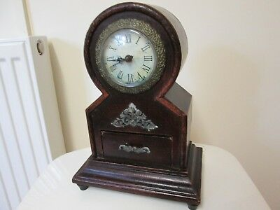 A Quartz Mantel Clock Old Style With Small Draw 268Mm High P/p On Payment