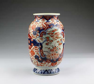 Fine Antique 19C Japanese Meiji Arita Imari Porcelain Vase With Phoenix Birds #1