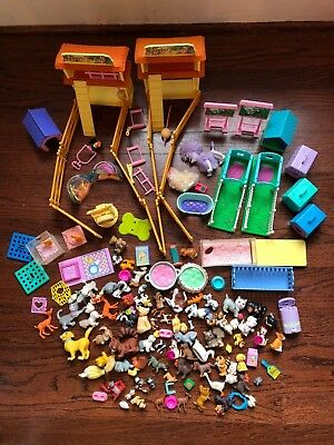 Huge Lot of Vintage 1990s LITTLEST PET SHOP Animals Petting Zoo Birds Paradise++