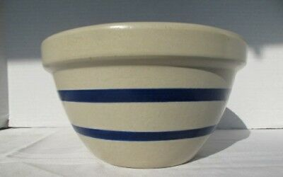 """Vintage RRP Co. Roseville Ohio Ransbottom Pottery 9"""" Blue Band Mixing Bowl Lot A"""