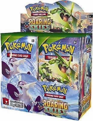 XY Roaring Skies 9 Booster Pack Lot 1/4 Booster Box POKEMON Trading Cards