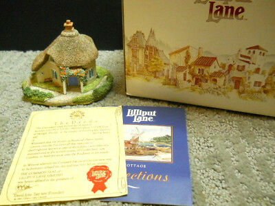 Lilliput Lane Cats Coombe Cottage English South West #154 NIB and Deeds 1993