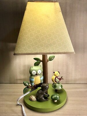 Lambs & Ivy~Children's Nursery Lamp~Owl~Squirrel~Bird~Mushroom~2012