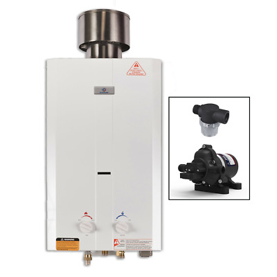 Eccotemp L10 Portable Outdoor Tankless Water Heater w/ Pump and Strainer
