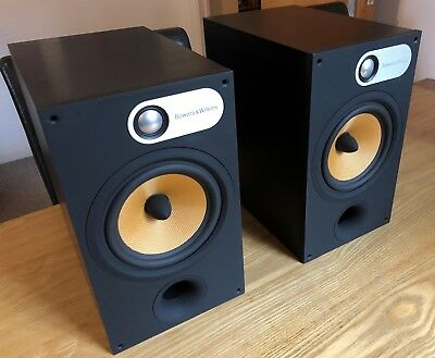 BW Bowers Wilkins 685 S1 Black Hi Fi Book Shelf Speakers