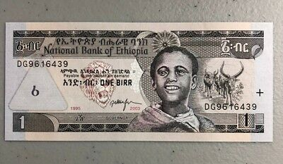 Ethiopian Paper Currency Money 2001 One Birr - Uncirculated