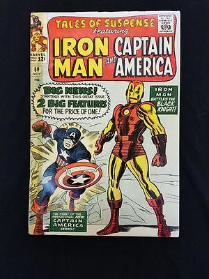 Tales of Suspense #59 1st appearance JARVIS 1st silver solo CAPTAIN AMERICA