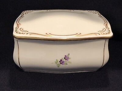 Hochst Porcelain Covered Box Made In Germany New