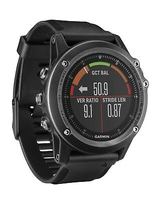 Garmin Fenix 3 HR Sapphire GPS Multi-Sport Training GPS Watch, NEW