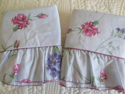 Vintage Pair of Cannon Royal Family Pillow Shams New & Unused