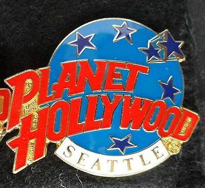 Seattle Pacific Northwest Planet Hollywood Blue Planet with Stars Logo PH Pin z3