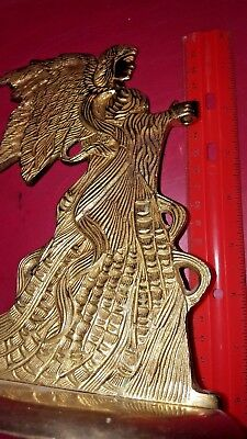 """Solid brass Angel Incense bowl candle holder 3 3/4"""" x 5 1/4"""" x 8"""""""
