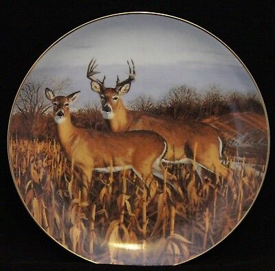 Bruce Miller Collector Plate - Harvest Rendezvous Woodland Royalty Collection