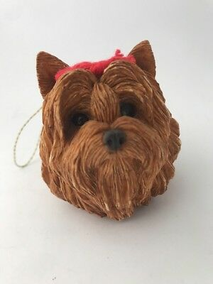 Yorkie Ornaments Sandicast X52 1996 Adorable Head